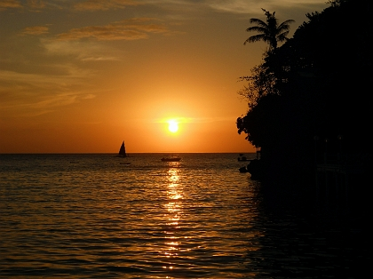 Sonnenuntergang, Insel Boracay, Philippinen
