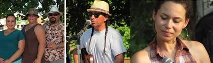 Familie Locklear (ohne Lakota John) | Gitarrist u. Sänger Cary Morin | Sängerin Charly Lowry
